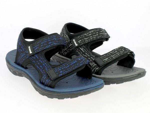.Her.-Sandalette, EVA, 2x Klettverschl., gemustert, schwarz-grau + schwarz-blau