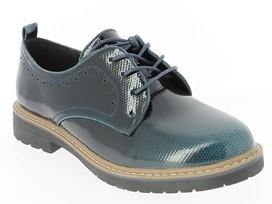 .Da.-Schuh, Schnürer, TPR-Sohle, geprägtes Lack/PU, mit Farbverlauf, navy