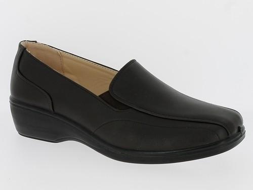 .Da.- Schuh, Slipper, PU-Sohle, 2 x Gummizug, braun