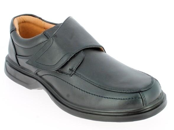 .He.-Schuh, PU-Sohle, 1 x Klett, PU, schwarz