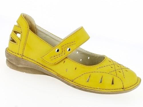 .Da.-Schuh, PU,1 x Klett, TPR-Sohle, gelb