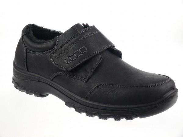 .He.-Schuh, PU-Sohle, Klettverschluss, Warmfutter, PU, schwarz
