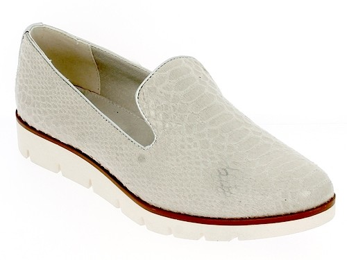 .Da.-Slipper, PU, Kroko-optik, beige