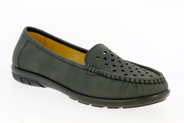 .Da.-Schuh, PVC-Sohle, Lochmuster vorn, PU, grau