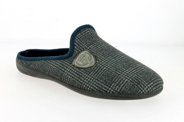 .He.-Pantoffel, TR, Textil, PU-Sohle, navy
