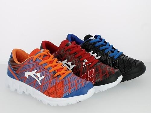 .Da.- Sportschuh, Phylon-Sohle, Schnürer, Offset print, schwarz-blau + schwarz-rot + blau-orange