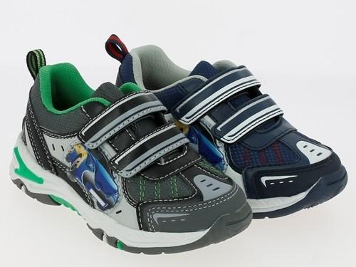 Ki.-Sportschuh, TPR-Sohle, 2 x Klettverschluss, PU + Mesh, navy+weiß + schwarz-grün