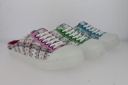 .Da.-EVA-Clogs, Sneakeroptik, m. kl. Löchern, Warmfutter, weiß-blau + weiß-grün + weiß-pink