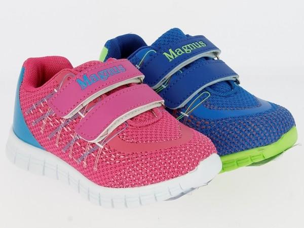 Ki.-Sportschuh, PU+Mesh, 2 x Klett, EVA-Sohle, pink + blau