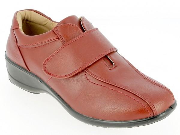 .Da.-Schuh, Slipper, PU, Klettverschluss, PU-Sohle, bordeaux