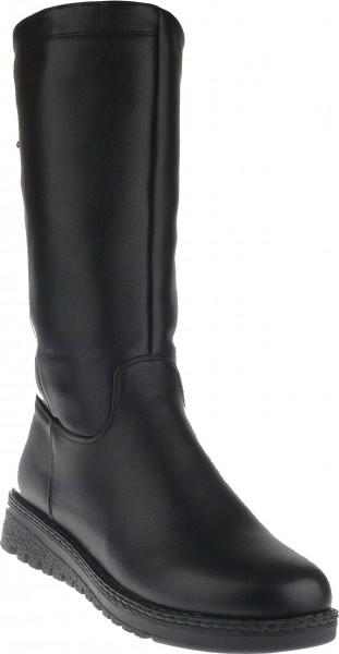 .Da.-Stiefel, TPR-Sohle, seitl. Reißverschluss, Ziernieten, Warmfutter, PU, schwarz