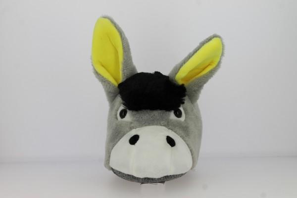 .He.-Tierhausschuh, Esel, Textil-Sohle, grau