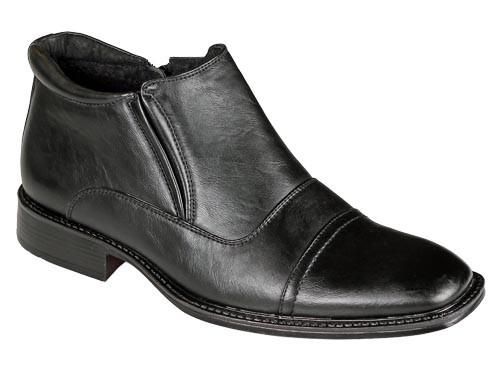.He.-Schuh, seitl. Reißverschluß, kl. Absatz, Kaltfutter, Gummizug, TPR-Sohle, schwarz
