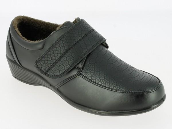 .Da.-Schuh, PU-Sohle, 1 br. Klettverschluß, PU, angerauhtes Futter, schwarz