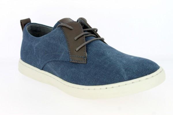 .He.-Schuh, PVC-Sohle, Schnürer, PU/Textil, navy-braun