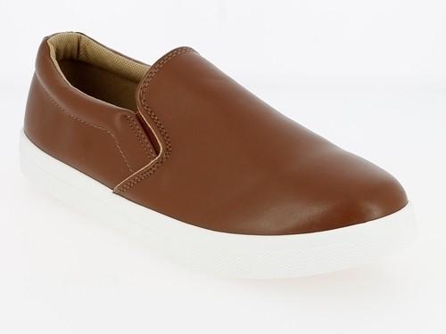.He.-Schuh, Slipper, PU, 2 x Gummizug, PVC-Sohle, braun