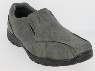 .He.-Schuh, 2x Gummizug, PU, PU-Sohle, grau