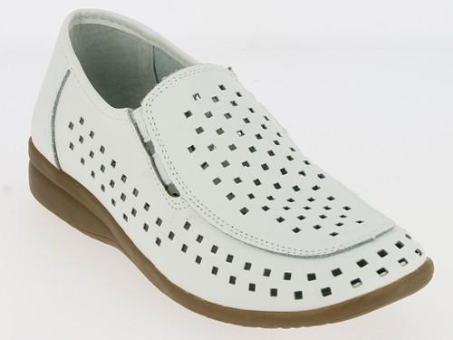 .Da.-Schuh, 4x Gummizug, Leder, Lederinnenausstattung, TPR-Sohle, weiß