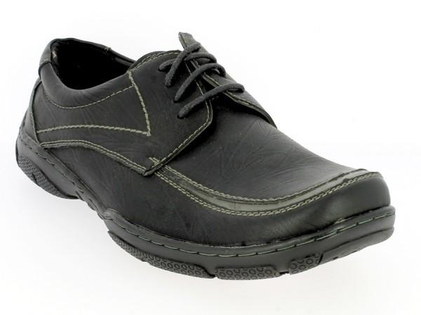 .He.-Schuh, Schnürer, TPR-Sohle, schwarz-grau