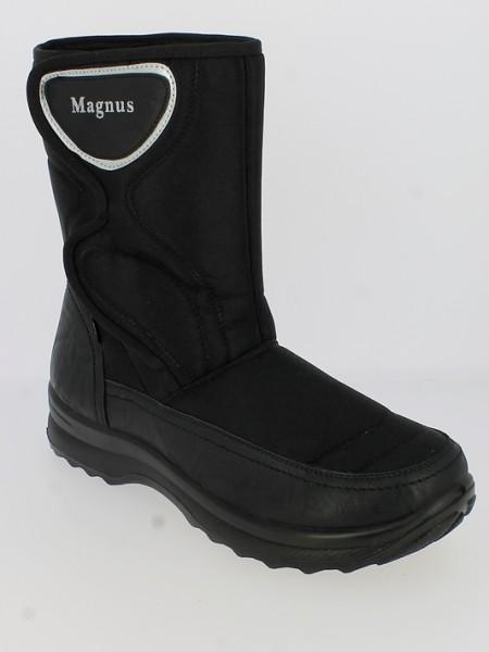 .He.-Stiefel, PU-Sohle, Warmfutter, KAT-TEX, seitlicher Klettverschluss, PU/Textil, schwarz