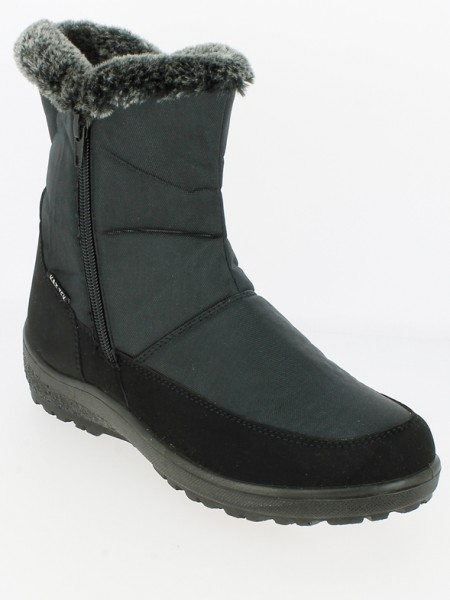 .Da.-Stiefel, PU-Sohle m. TPR-Einsatz, 2 x Reißverschluß, PU+Textil, KAT-TEX, Warmfutter, schwarz
