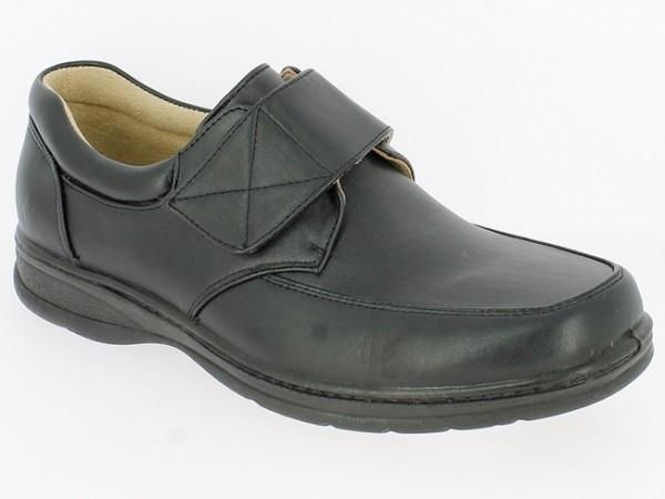 .He.-Schuh, PU-Sohle, Klettverschluss, PU, schwarz