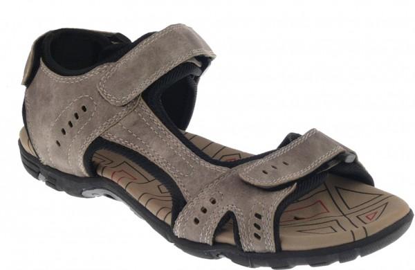 .Da.-Sandalette, TPR-Sohle, 2 x Klett, Klettverschluss hinten, PU, beige