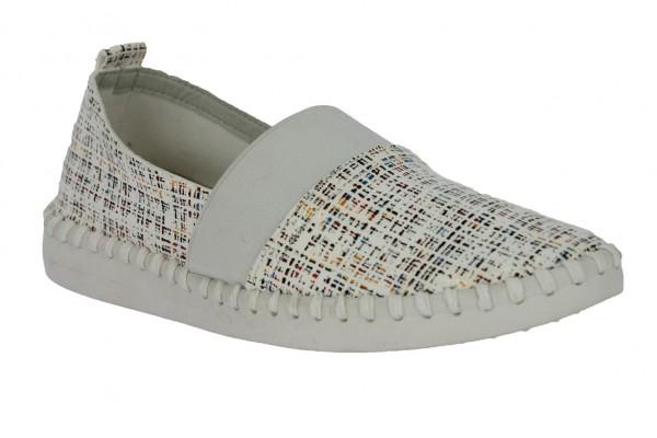 .Da.-Schuh, ultraflex. Gummisohle, Slipper, br.Gummizug, Leder-Wechselsohle, bedr. Microfaser, beige