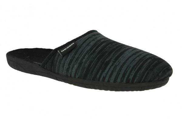 .He.-Pantoffel, TR, Textil, PVC-Sohle, grau-schwarz