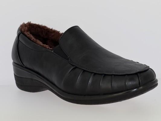 .Da.-Schuh, 2 x Gumizug, Warmfutter, Nappa-PU, PU-