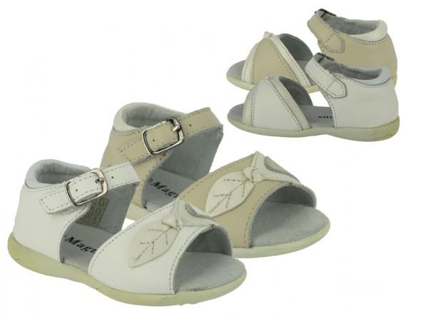 Ki.-Sandalette, mit Schnalle, TPR-Sohle, beige+weiß