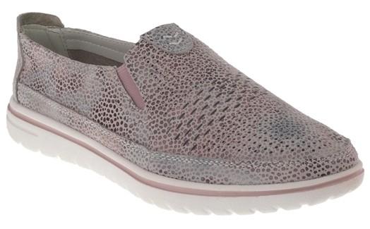 .Da.-Schuh, MD-Sohle, 2 x Gummizug, Lederinnensohle, bedruckt, Leder, pink