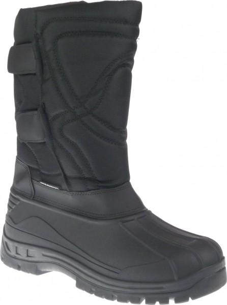 He.-Stiefel, TPR-Galosche, 2x Klettverschluss, Nylon, Warmfutter, schwarz