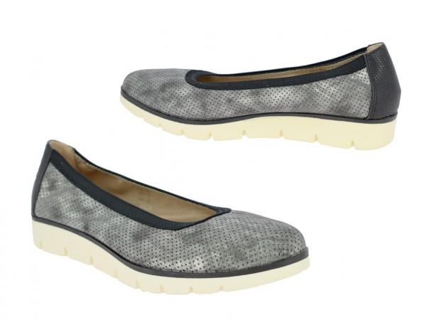 .Da.-Schuh, Slipper, PVC-Sohle, perforiertes PU, schwarz
