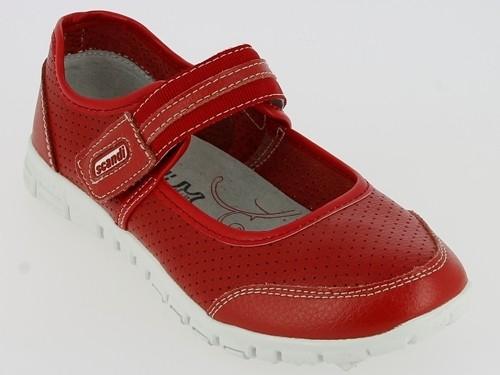 .Da.-Schuh, 1x Klett, Leder, Lederinnenausstattung, RB-Sohle, rot